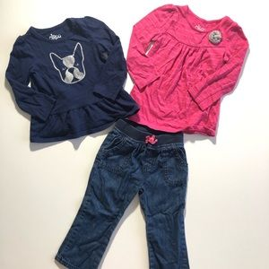 2T Girl Casual Clothes Tops Jeans Circo